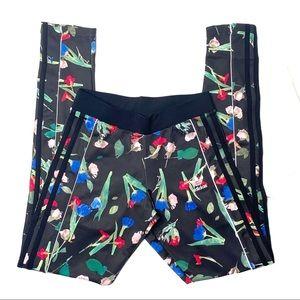 Adidas floral print flower garden leggings NWT